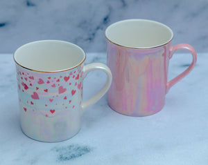 Iridescent Heart Mugs - the-little-details-home-accents