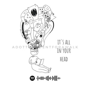 It's All In Your Head Illustration Art Print