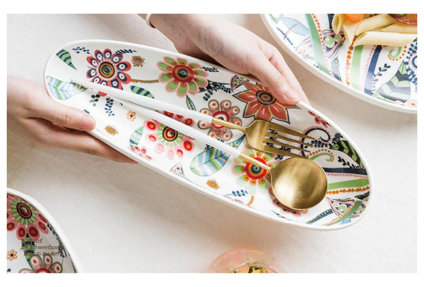 Kitsch Floral Long Platter - the-little-details-home-accents