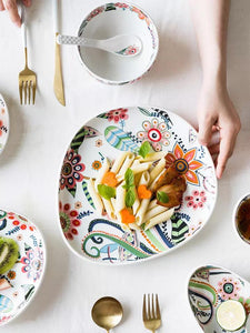 Kitsch Floral Plate - the-little-details-home-accents
