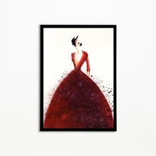 Load image into Gallery viewer, Lady In Red Wall Art