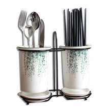 Load image into Gallery viewer, Leaf Print Cutlery Stand - the-little-details-home-accents