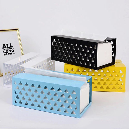 Geometric Metal Tissue Box Holder - the-little-details-home-accents