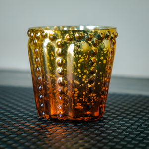 Metallic Ombre Glass Candle Votive
