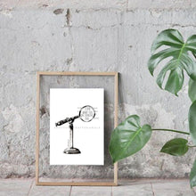 Load image into Gallery viewer, Microscope Illustration Art Print