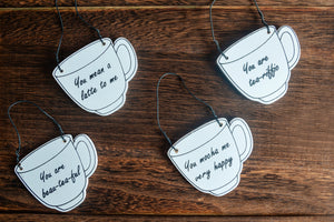 Tea & Coffee Quote Mini Wall Hanging - Set of 4