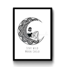 Load image into Gallery viewer, Moon Girl Illustration Art Print