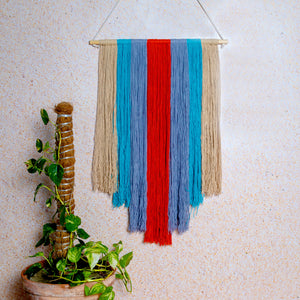 Multi Coloured Macrame Wall Hanging