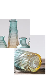 Ombré Glass Vase - Set of 5 - the-little-details-home-accents