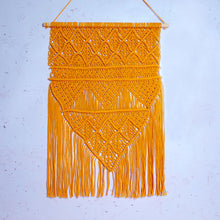 Load image into Gallery viewer, Orange Macrame Wall Hanging