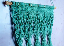 Load image into Gallery viewer, Pastel Green Macrame Wall Hanging