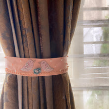 Load image into Gallery viewer, Pearled Hand Embellished Luxe Tweets Curtain Ties