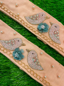 Pearled Hand Embellished Luxe Tweets Curtain Ties
