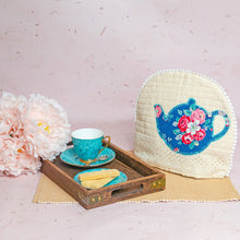 Load image into Gallery viewer, Peonies on Creme Hakoba Tea Cosy