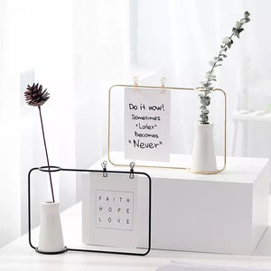 Minimal Vase Photo Frame - the-little-details-home-accents
