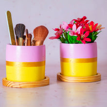 Load image into Gallery viewer, Pink & Yellow Concrete Planter
