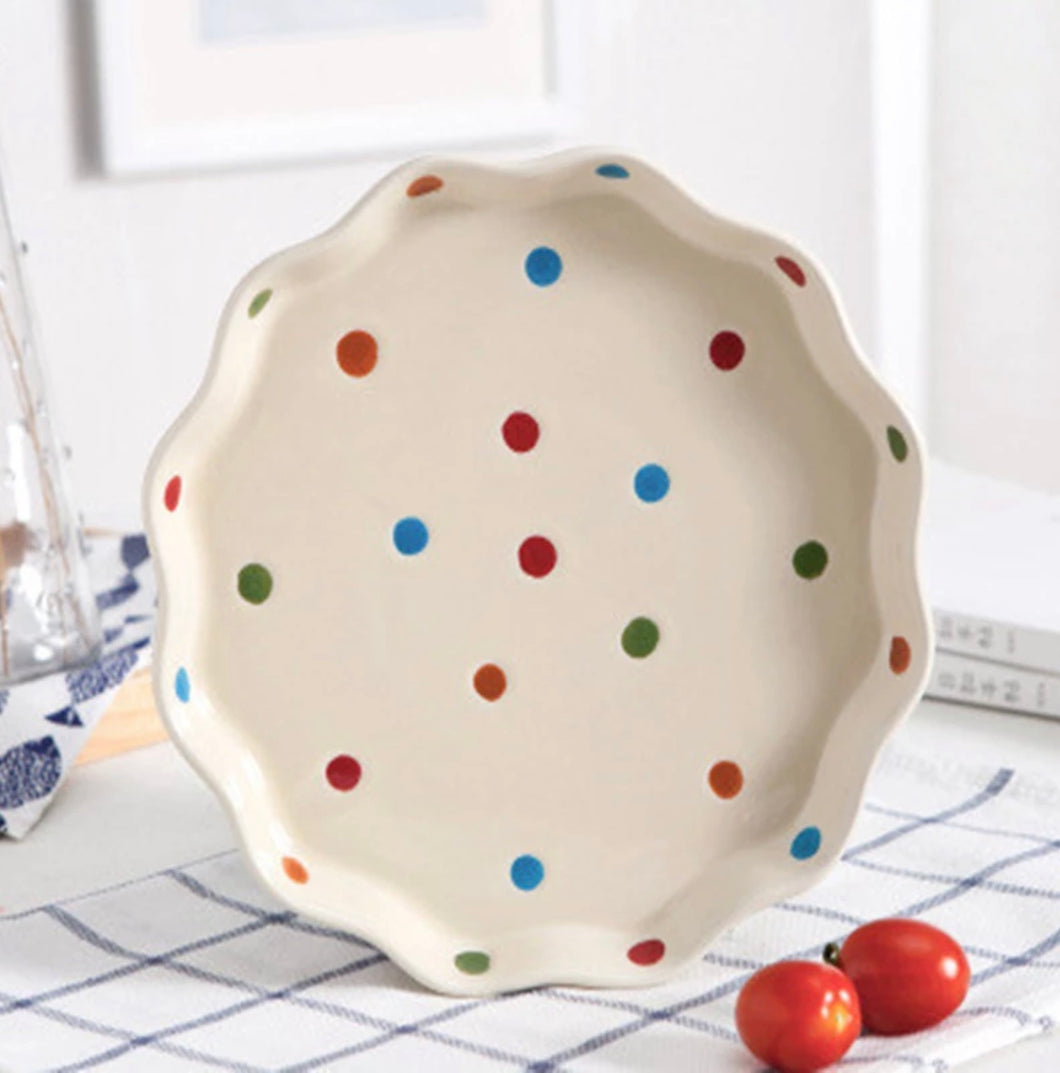 Retro Polka Dot Plate - the-little-details-home-accents