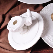 Load image into Gallery viewer, White Rabbit Dessert Plate Stand - the-little-details-home-accents