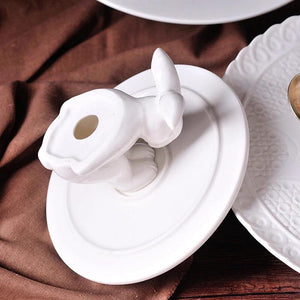 White Rabbit Dessert Plate Stand - the-little-details-home-accents