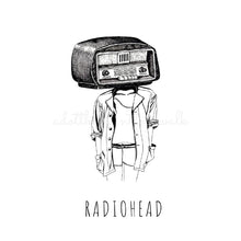 Load image into Gallery viewer, Radiohead Illustration Art Print