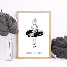 Load image into Gallery viewer, Record Girl Illustration Art Print