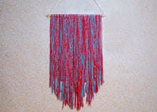 Load image into Gallery viewer, Blue & Red Braided Macrame Wall Hanging