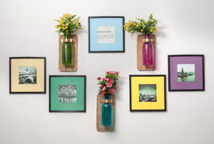 Glass Bottle Wall Planter - the-little-details-home-accents