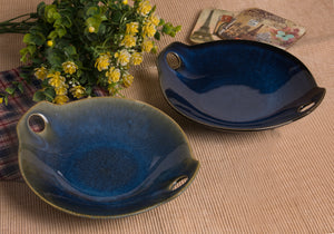 Blue Glazed Platter - the-little-details-home-accents