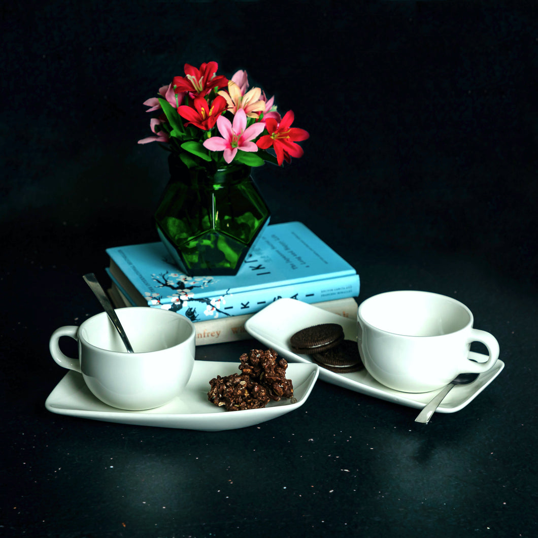Tea for 2 Cup & Saucer Set