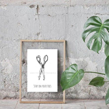 Load image into Gallery viewer, Tip Toes Illustration Art Print
