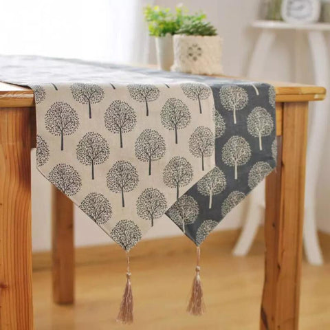 Tree Pattern Table Runner - the-little-details-home-accents