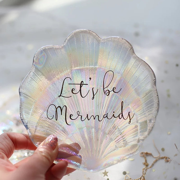 Mermaid Trinket Tray - the-little-details-home-accents