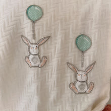 Load image into Gallery viewer, Vintage White Throw - Bunnies