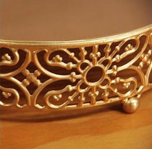 Load image into Gallery viewer, Vintage Gold Cake Stand - the-little-details-home-accents