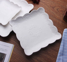 Load image into Gallery viewer, White Vintage Lace Platter - the-little-details-home-accents