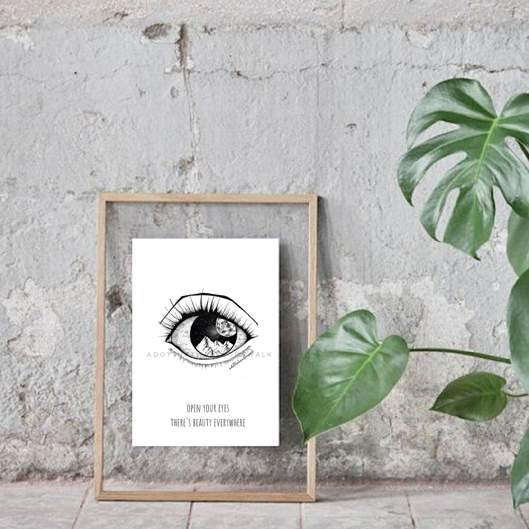 Vision Eye Illustration Art Print