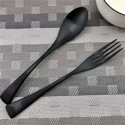 Jet Black Cutlery Set - the-little-details-home-accents