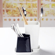 Load image into Gallery viewer, Black & White Cutlery Stand