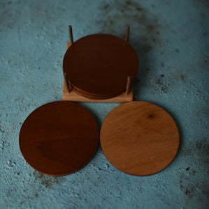 Double Sided 'Cha' Coasters - Set of 4