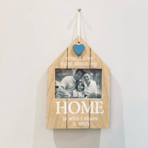 Wooden House Shape Hanging Frame - the-little-details-home-accents