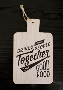 Food & Friends Quote Wall Hanging - the-little-details-home-accents