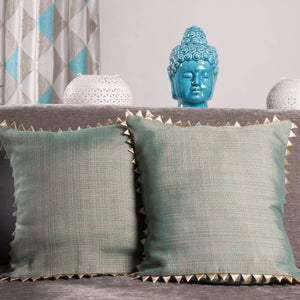 Green & Gold Cushion Cover - Set of 2 - the-little-details-home-accents