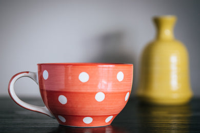 Polka Dot Cappuccino Mug - the-little-details-home-accents