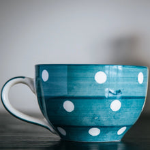 Load image into Gallery viewer, Polka Dot Cappuccino Mug - the-little-details-home-accents