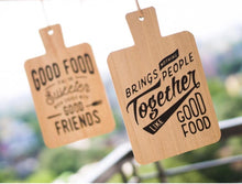Load image into Gallery viewer, Food & Friends Quote Wall Hanging - the-little-details-home-accents