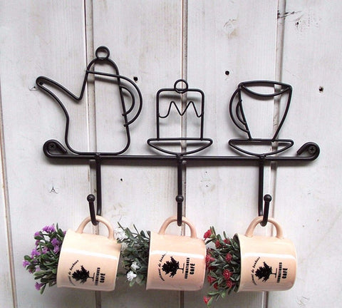 Tea Time Wall Hooks - the-little-details-home-accents