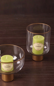 Glass Gold Detail Candle Votive - the-little-details-home-accents