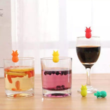 Load image into Gallery viewer, Wine Glass Markers - Pineapple