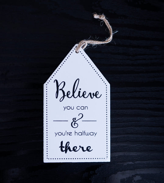 Mini White Quote Wall Hanging - the-little-details-home-accents