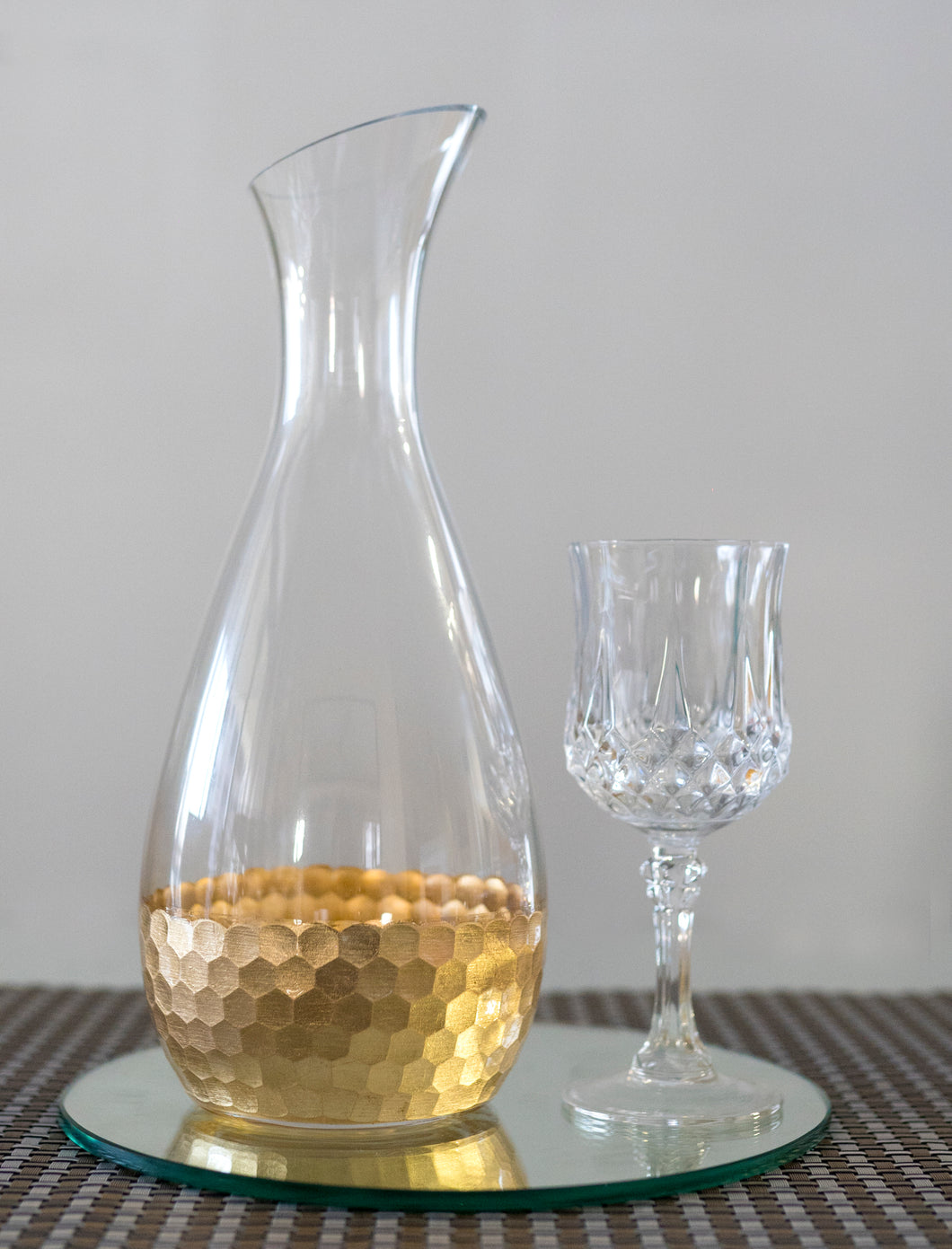 Hammered Gold Carafe - the-little-details-home-accents